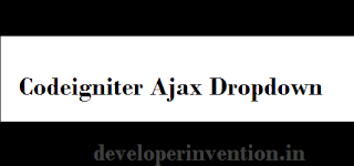 Codeigniter Ajax dropdown