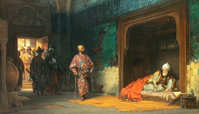 Bayezid I in captiviy met with Timur