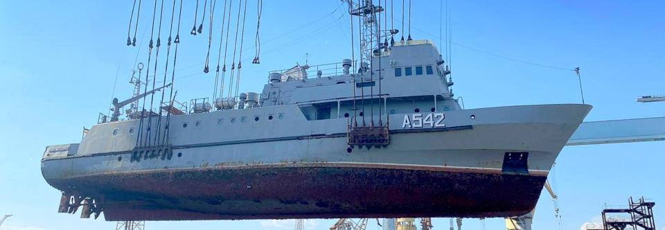 Навчальний катер ВМСУ «Нова Каховка» став на ремонт