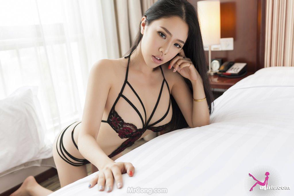 Image MrCong.com-UGIRLS-035-Ni-Xiao-Yao-003 in post Mê mẩn ngắm vòng một nở nang của người đẹp Ni Xiao Yao (妮小妖) trong bộ ảnh UGIRLS 035