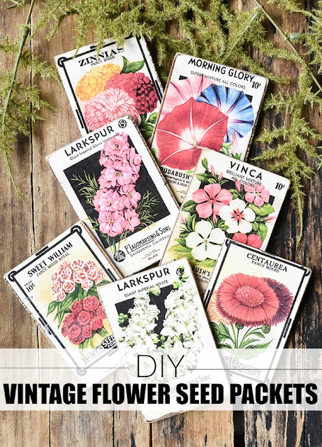 How to make vintage flower seed packets