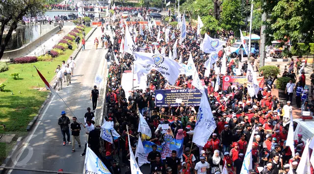 Dilarang Dekati Istana, Buruh Putar Pidato Jokowi soal Demo