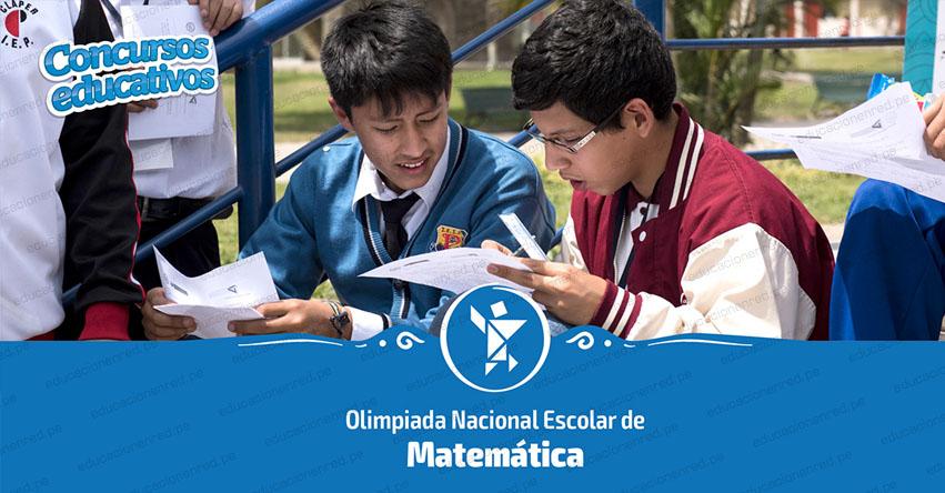 ONEM 2019: Hoy se realiza XVI Olimpiada Nacional Escolar de Matemática a nivel nacional - Segunda Etapa UGEL [RESULTADOS] www.minedu.gob.pe