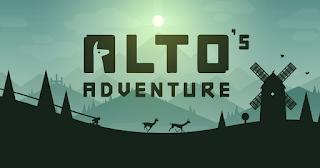 tela inicial do jogo Alto's Adventure