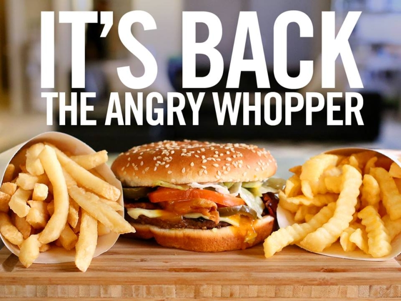 News The Angry Whopper Is Back At Burger King
