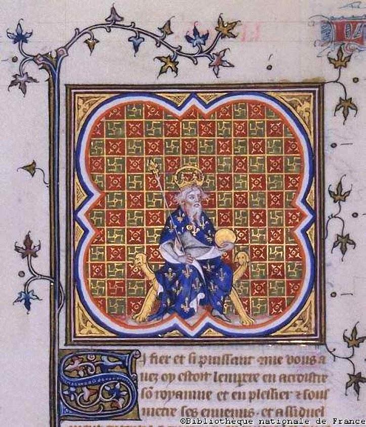 Carlos Magno entronizado.