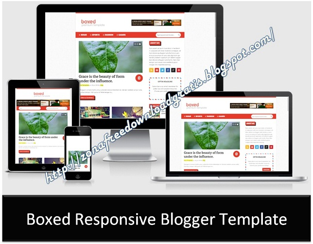Boxed Responsive Blogger Template