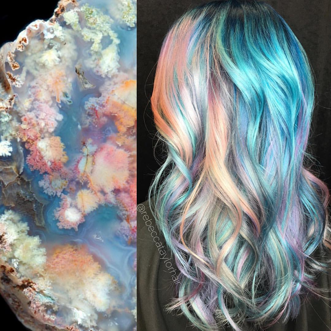 Кристальное окрашивание волос