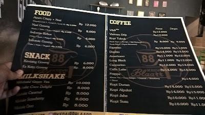 Daftar Menu Kedai 88 Blaarr