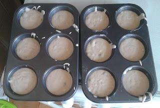 Muffin allo yogurt ai mirtilli e mirtilli