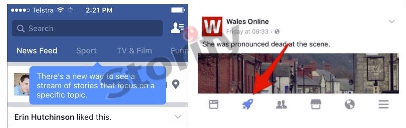 """Facebook, anasayfa haberler akışında daha fazla içerik görebilmeniz için,""""Konuları Takip Etme"""" algoritmasını test ediyor"""