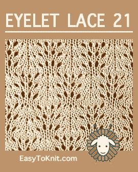 #Knit Swirling stitch, Easy Eyelet Lace Pattern #easytoknit #knitlace