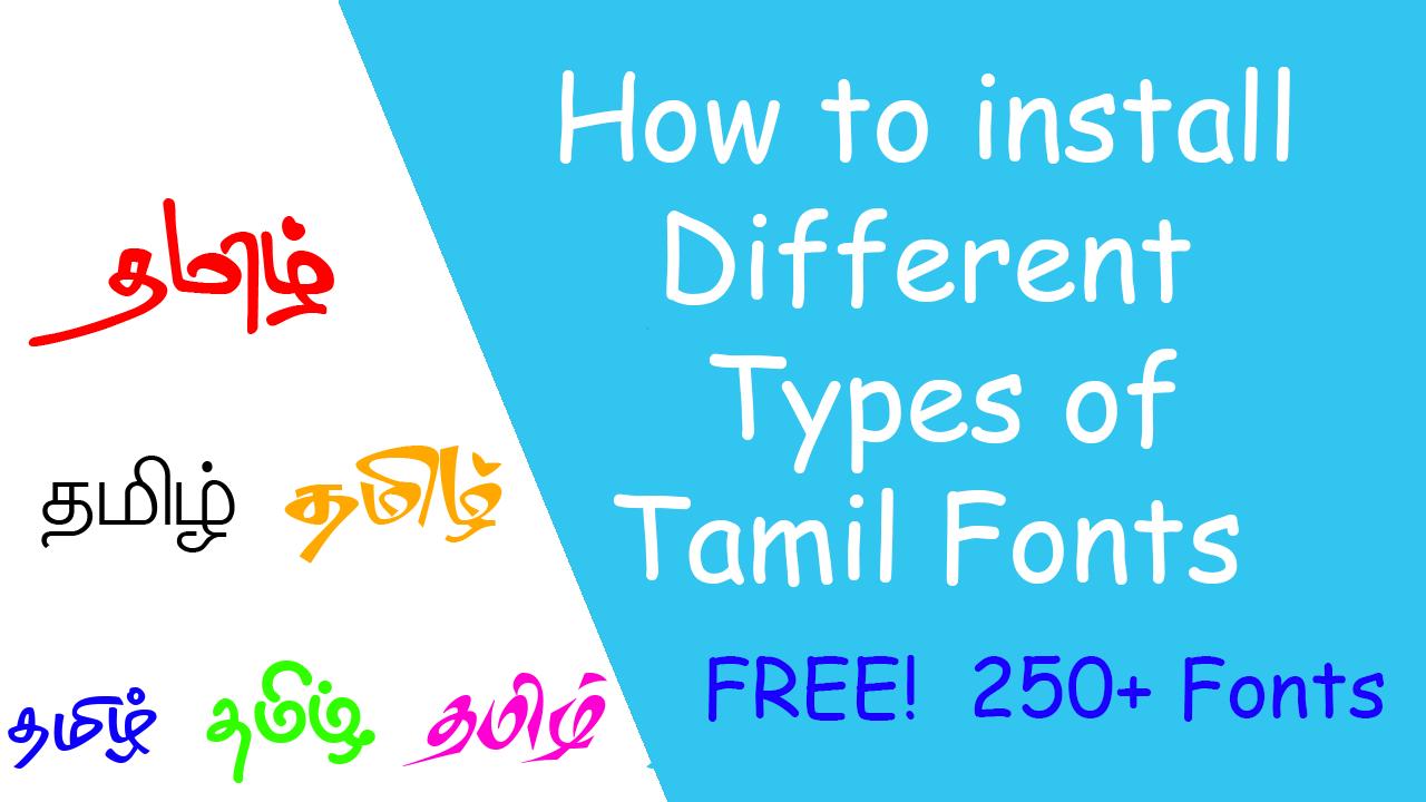Installing tamil fonts - Microsoft Community