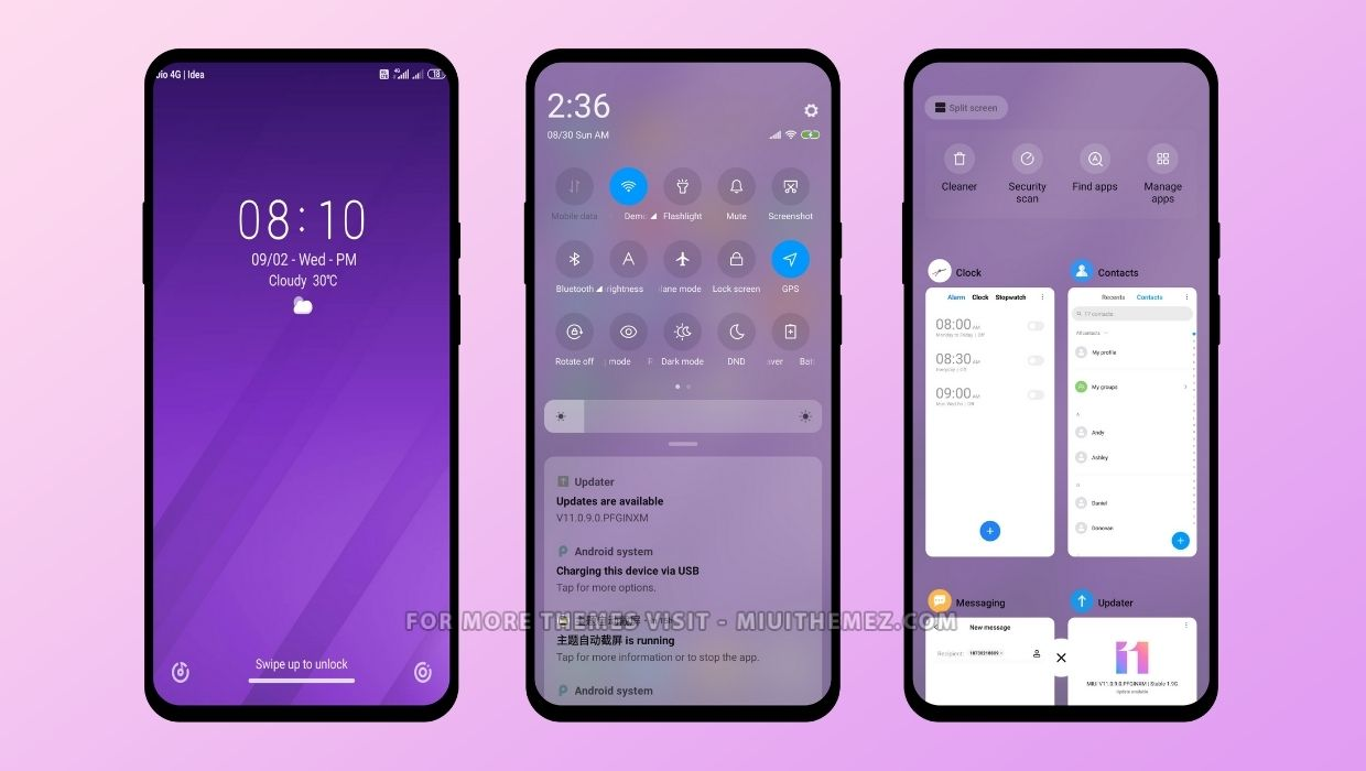 Coloring Lines MIUI 11 and MIUI 12 Theme