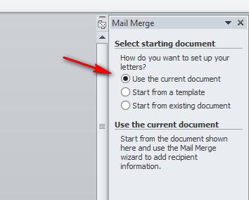 Step 4 Dalam Membuat Mail Merge