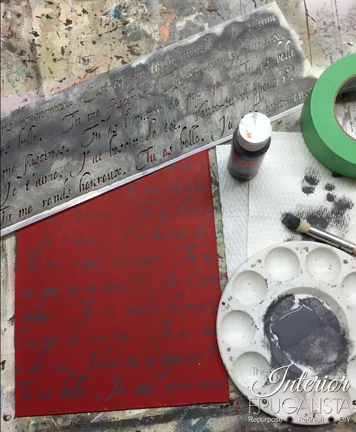 DIY Valentine Art Script Stencil