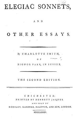 Elegiac Sonnets title page