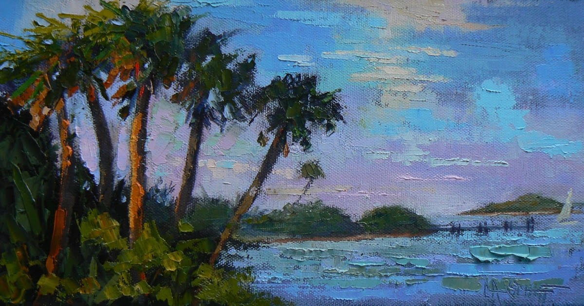 Carol Schiff Daily Painting Studio Tropical Landscape