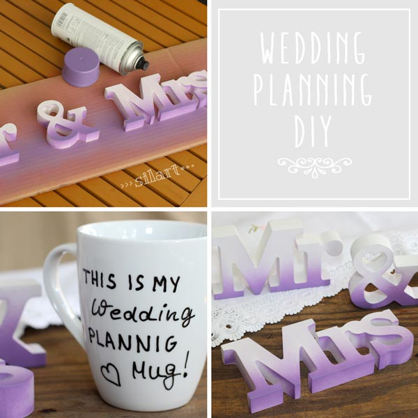 Mr. & Mrs. and wedding planning mug