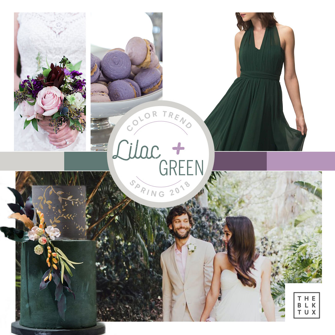 Lilac and Green Spring Wedding Colour Combination