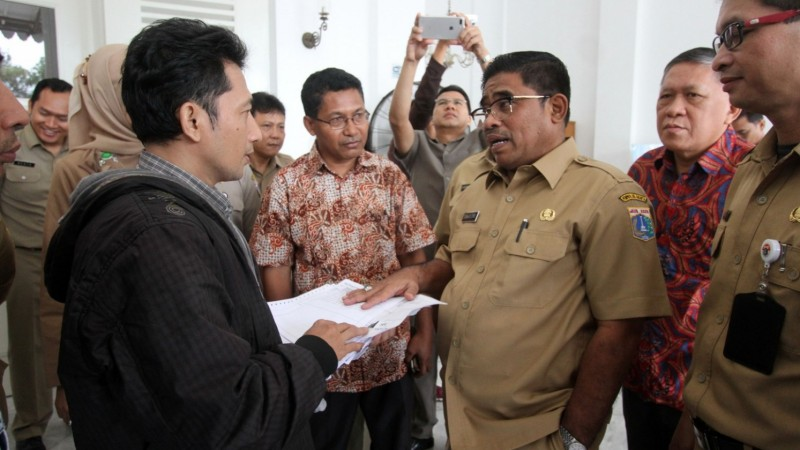 Plt Gubernur DKI Jakarta Sumarsono di Balai Kota