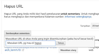 Cara Menghapus Postingan/Artikel Di Pencarian Google Secara Permanen