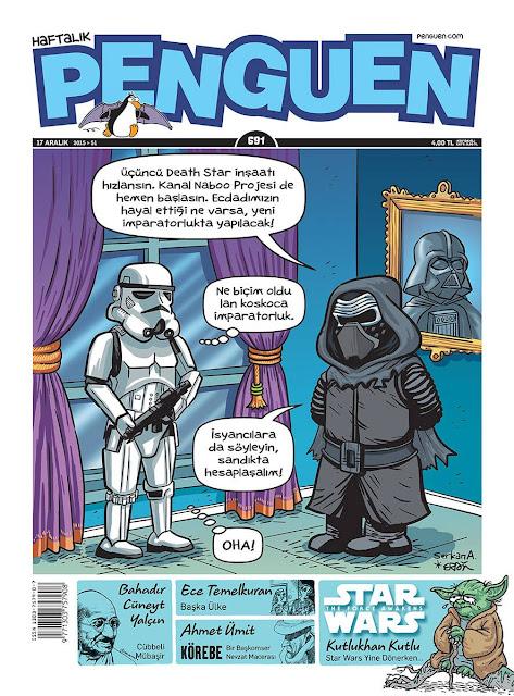 Penguen Death Star Wars Karikatürü
