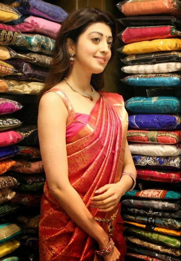Pranitha photos At VRK Silks Showroom