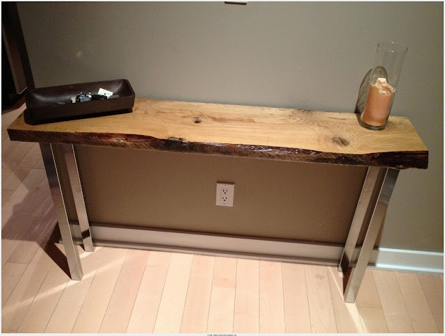 Download Natural Wood Console Table