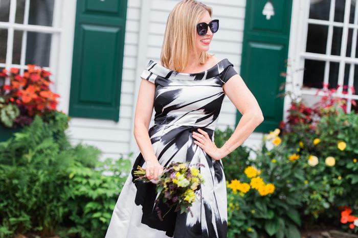 Closet London black white party dress
