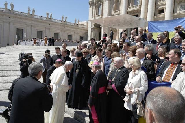 Папа Франциск і чорнобильці