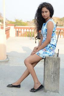Actress Priyankha Stills in Floral Short Dress at Golmal Gullu Movie Pressmeet 0339.JPG