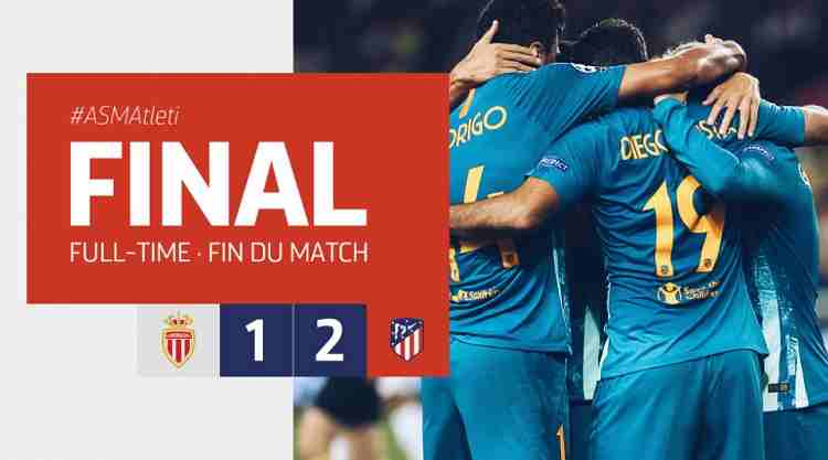 Hasil AS Monaco vs Atletico Madrid Skor Akhir 1-2