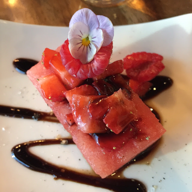 V Series, Kew, watermelon w aged balsamic vinegar
