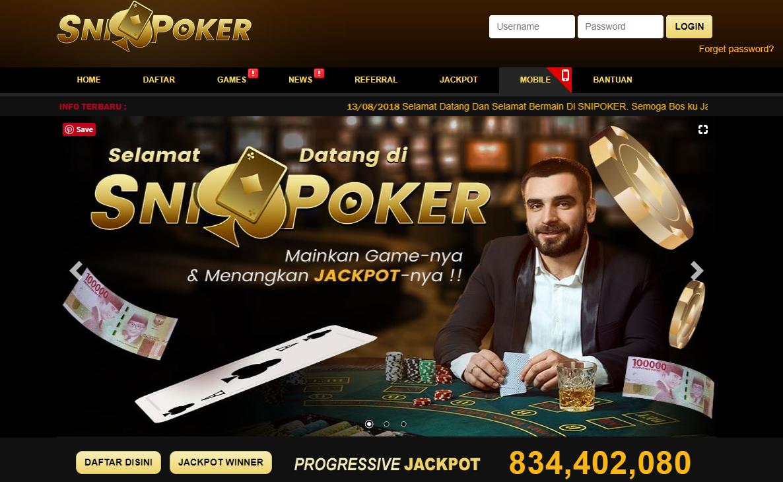 SniPoker Agen Poker Terbaik Indonesia