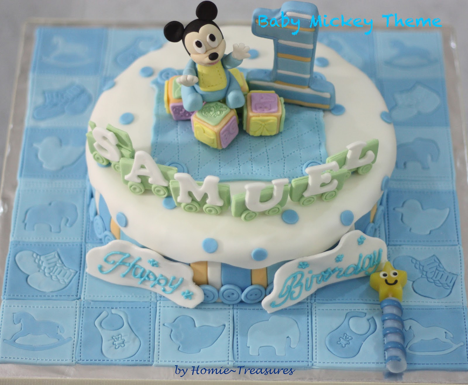 My Humble Piece Of Art 1st Birthday Cakes For A Pair Of Adorable Twins
