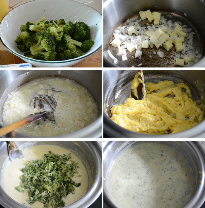 Steps to preparing broccoli cheese soup