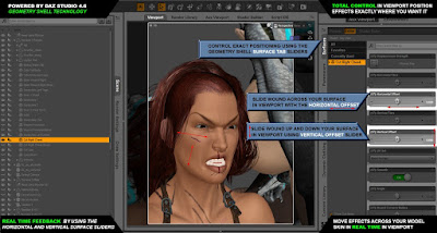 Wound Makeup Artist 3Delight for Genesis 3 Female