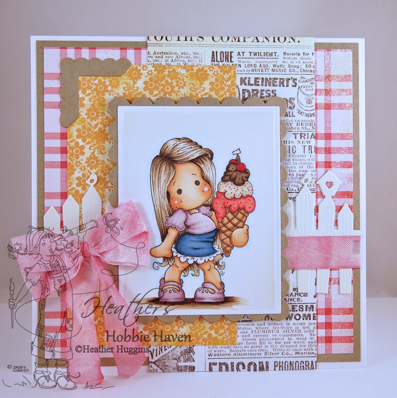 Heather's Hobbie Haven - Tilda with Cherry Ice Card Kit