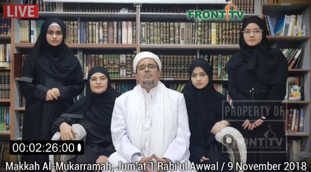 Pesan Habib Rizieq ke Jokowi: Tegakkan Keadilan, Jangan Hanya Fokus Pencitraan