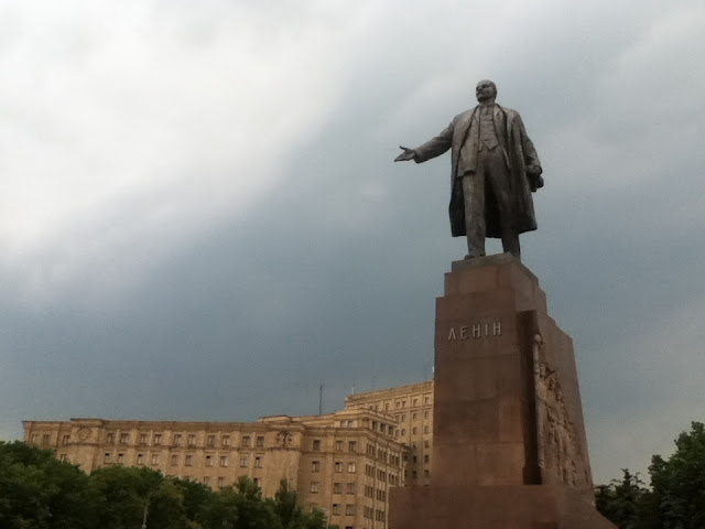 Lenin statue in Kharkiv, Ukraine