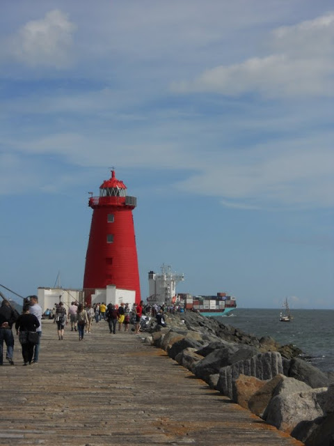 Poolbeg Lighthouse in Dublin