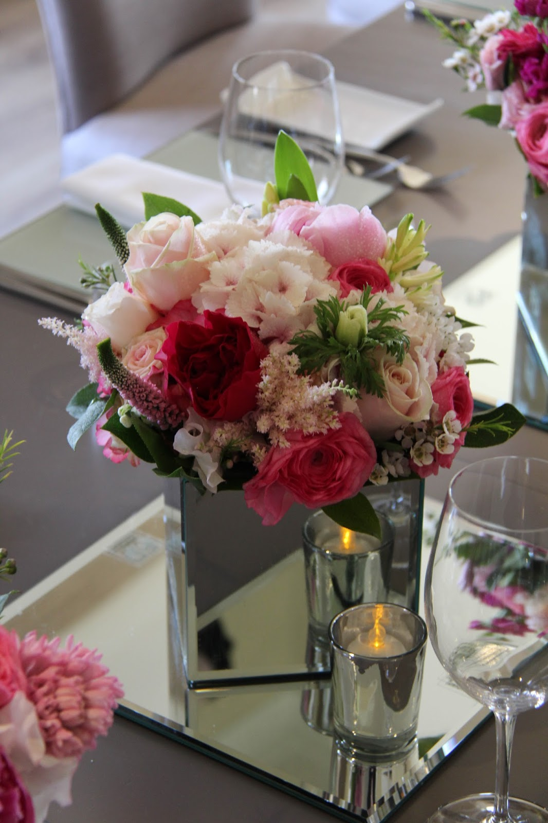 Beautiful Birthday Dinner Party Flowers For Siobhan In The Salon At