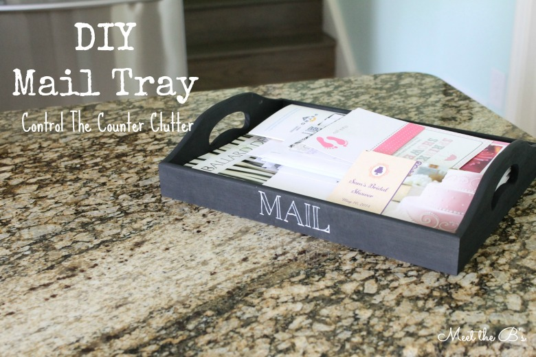 How to control countertop clutter with a DIY mail tray