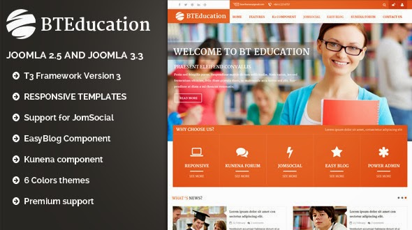 responsive education joomla template