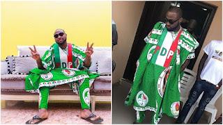 Davido Wearing PDP Customized Agbada For Osun Campaign (Photos)