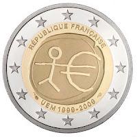 EMU  10 vuotta Ranska 2009 kolikko