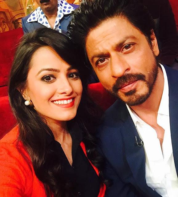 Shah Rukh Khan and Anita Hassanandani from Comedy Nights Bachao.