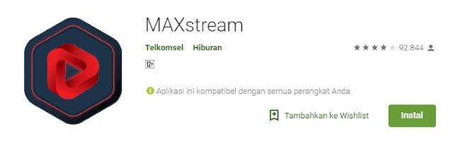 Download Aplikasi MAXstream Android Gratis Terbaru