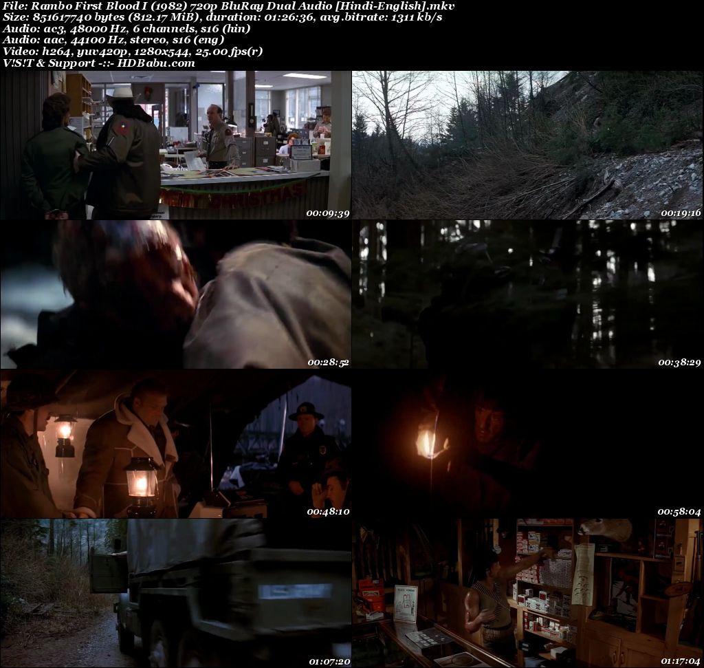 Rambo 1982 Hindi Dual Audio 720p Blu-Ray 800MB Screenshot